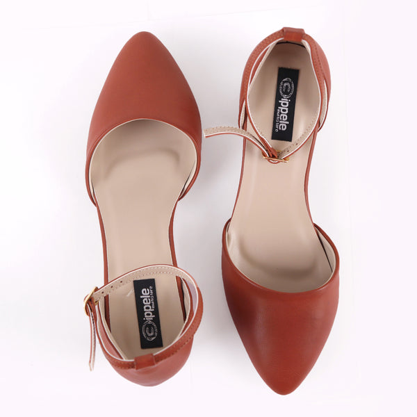 Foot Wear,Tan Twist Block Heels - Cippele Multi Store
