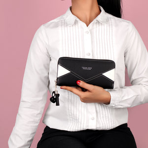 Wallet,The Envelope Wallet in Black & White - Cippele Multi Store