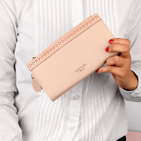 The Punched Ribbon Wallet in Nude