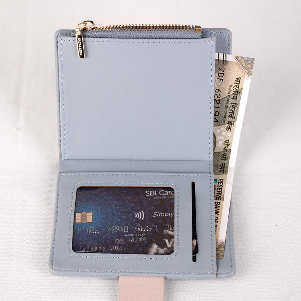Wallet,The Blue Wallet with an Art - Cippele Multi Store