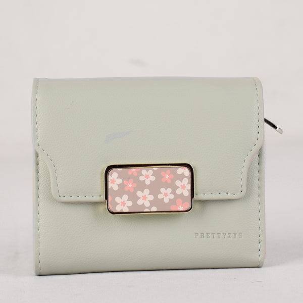 Wallet,The Floral Stamp Pista Green Wallet - Cippele Multi Store