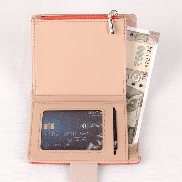 Wallet,The Peach Wallet with an Art - Cippele Multi Store