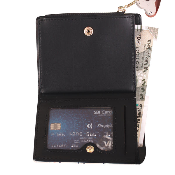 Feel Happy Wallet in Black