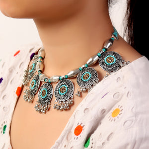 Necklace,Traditional Necklace in Silver hue - Cippele Multi Store