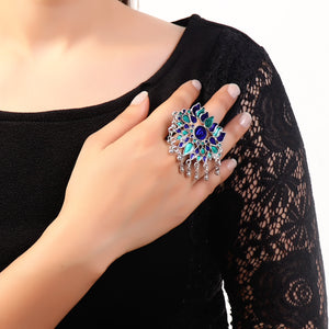 Ring,One-of-a-kind traditional Meenakari Ring - Cippele Multi Store