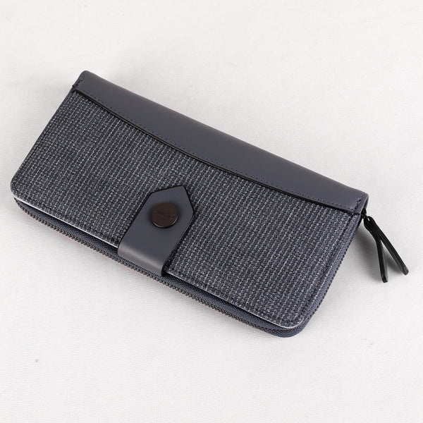 The Fabric Anchor Wallet in Blueish Grey