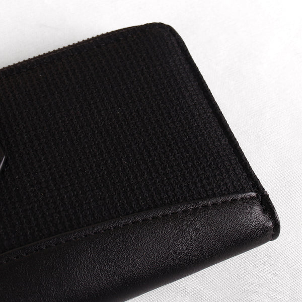 The Fabric Anchor Wallet in Black