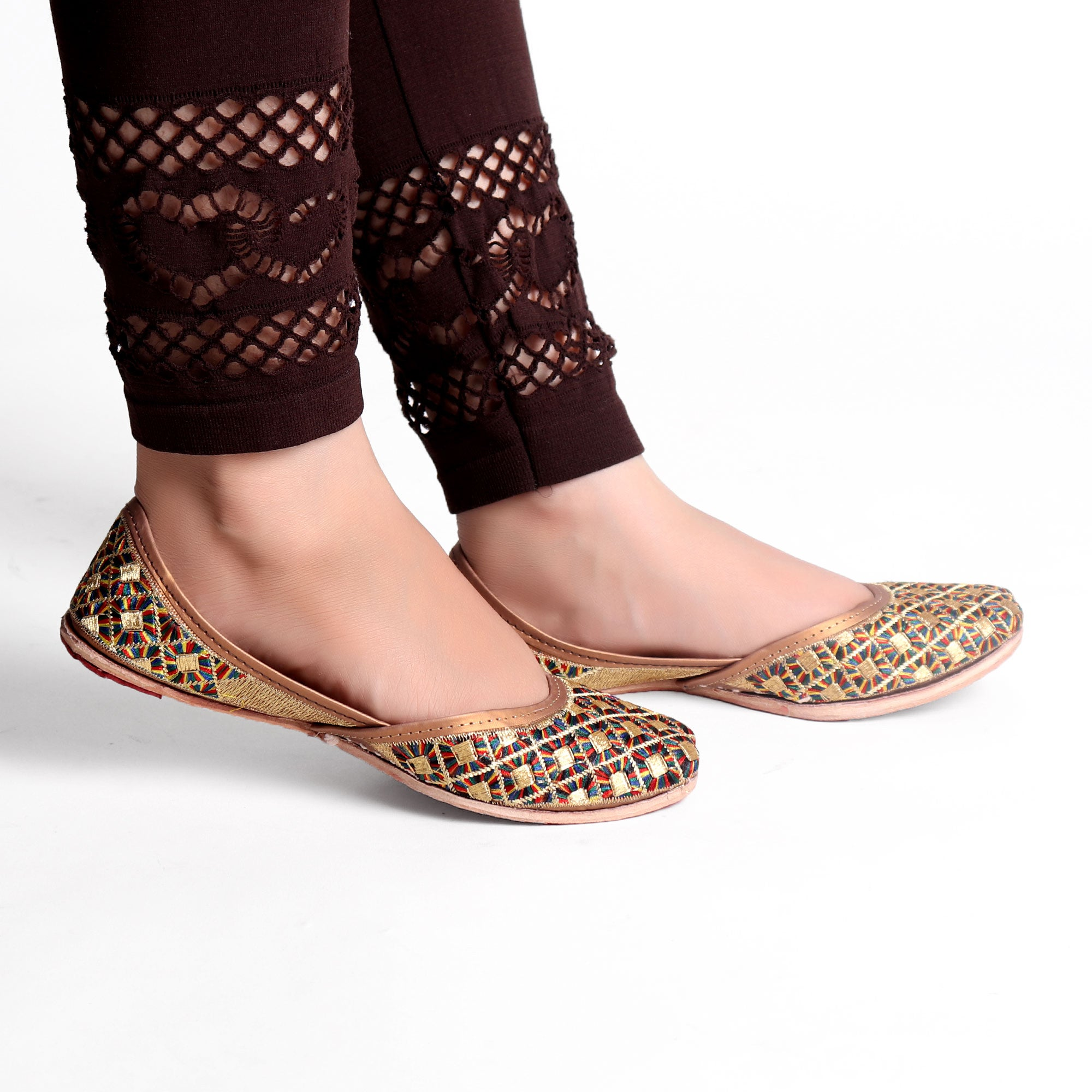 Foot Wear,Happy Blocks Phulkari Punjabi Jutti - Cippele Multi Store