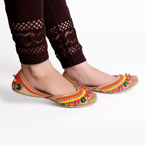 Foot Wear,Ghungroos on my Feet Phulkari Punjabi Jutti - Cippele Multi Store