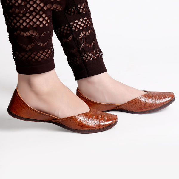 Foot Wear,Perfect Fit Brown Jutti - Cippele Multi Store
