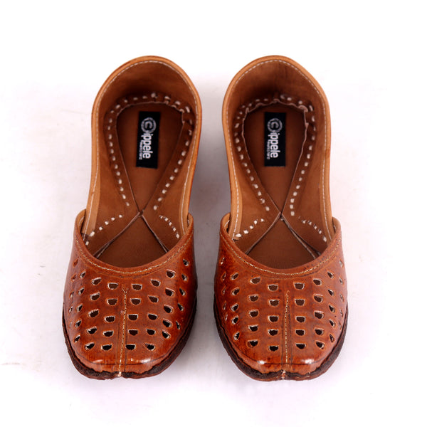 Foot Wear,Fabulous For Feet Brown Jutti - Cippele Multi Store