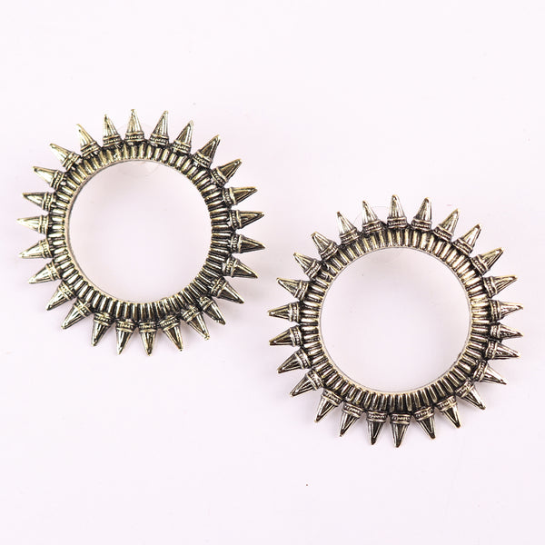 Earrings,Magnificent Moon Studs in Silver - Cippele Multi Store