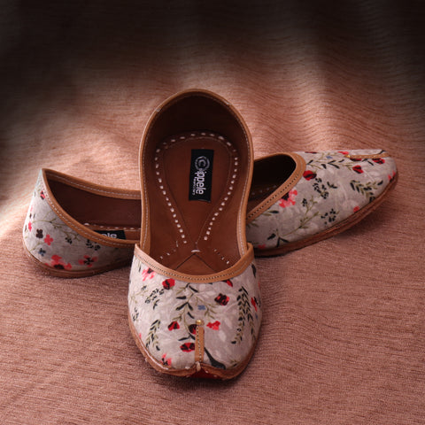 Foot Wear,Fabulous For Feet Flower Print Jutti - Cippele Multi Store