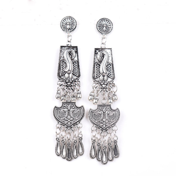 Earrings,Long Affair Metal earrings - Cippele Multi Store