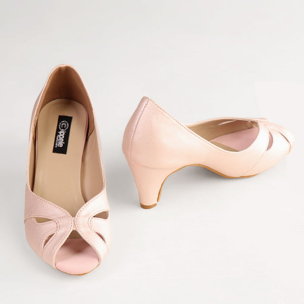Foot Wear,The Dreamy Savour Heel in Baby Pink - Cippele Multi Store