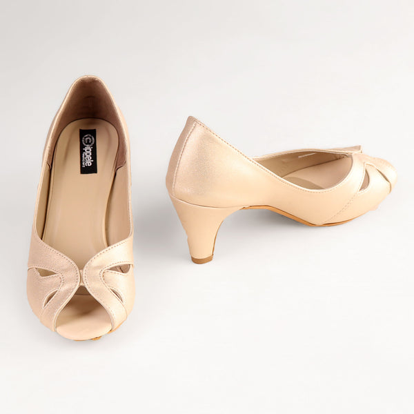 Foot Wear,The Dreamy Savour Heel in Golden - Cippele Multi Store