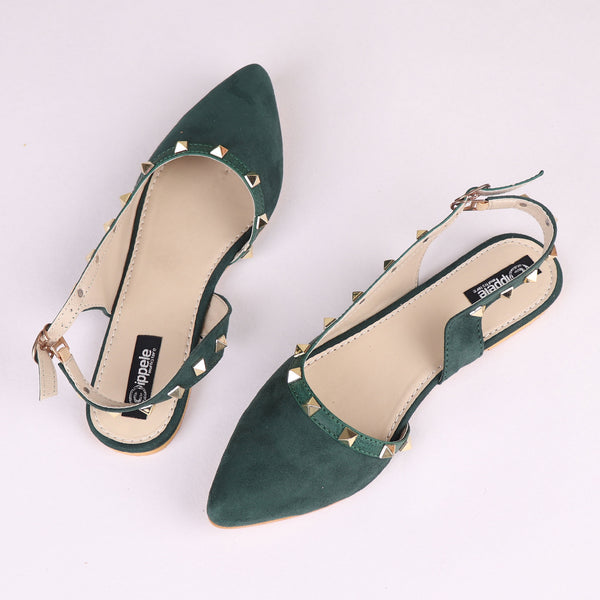 Foot Wear,The Glitters on Trotters Valentino in Green - Cippele Multi Store