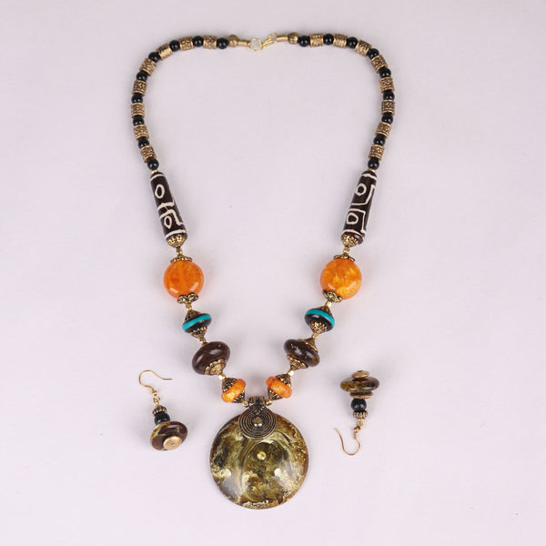 Necklace Set,The Celestial Necklace Set in Earthy color - Cippele Multi Store