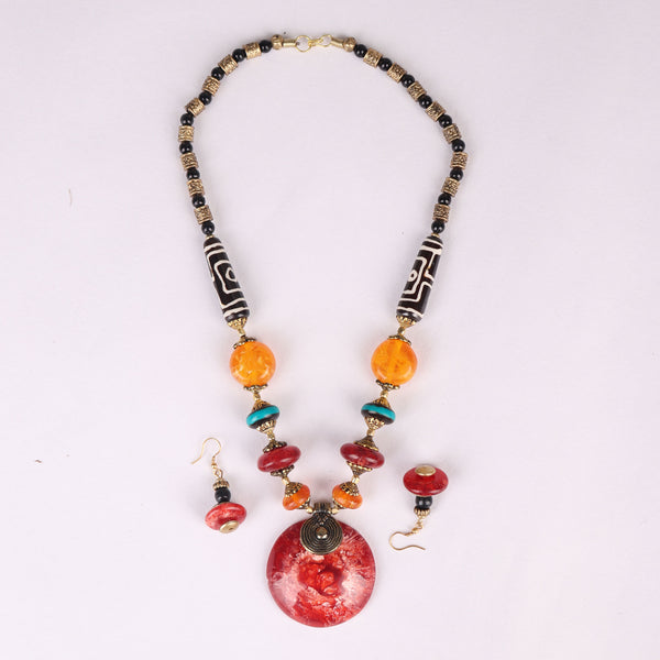 Necklace Set,The Celestial Necklace Set in Red - Cippele Multi Store