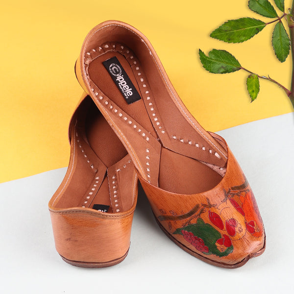 Foot Wear,The Hand Painted Tota Jutti - Cippele Multi Store