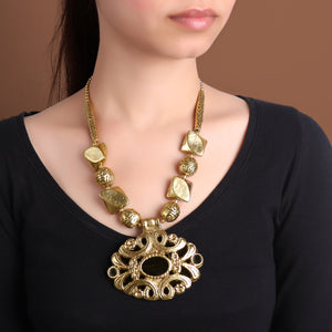 Necklace,All for Beauty Golden Necklace - Cippele Multi Store