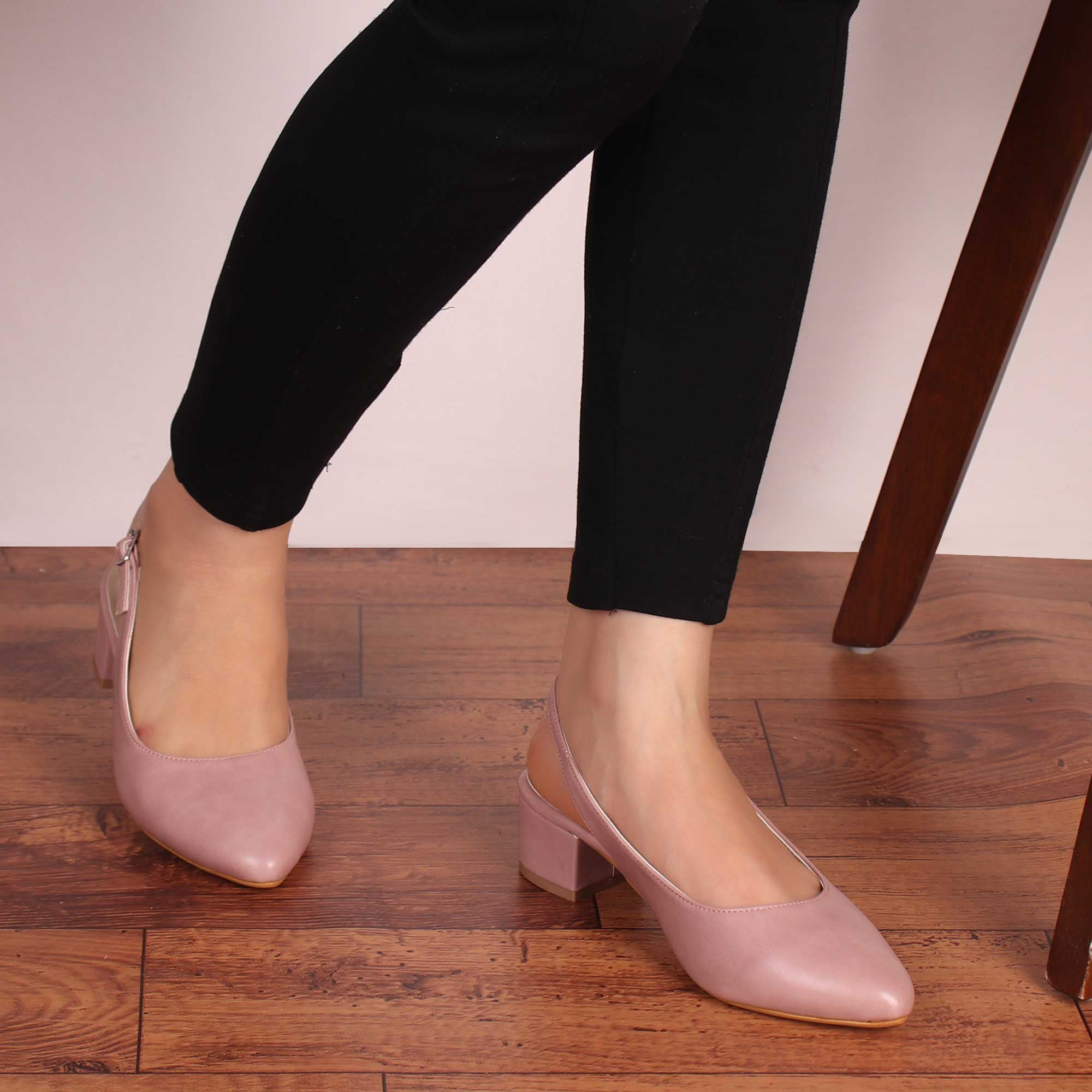 The Pinky Block Heels