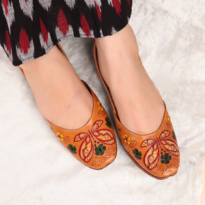 Foot Wear,The Hand Painted Titli Jutti - Cippele Multi Store