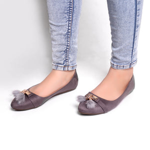 Foot Wear,Grey Tassel Bellies - Cippele Multi Store
