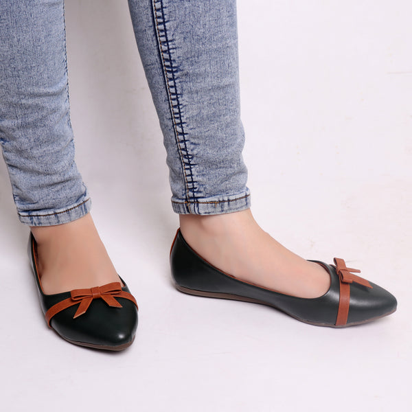 Foot Wear,Pine Belly with contrast bow - Cippele Multi Store