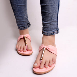 Foot Wear,Bow Style Flats in Pink - Cippele Multi Store