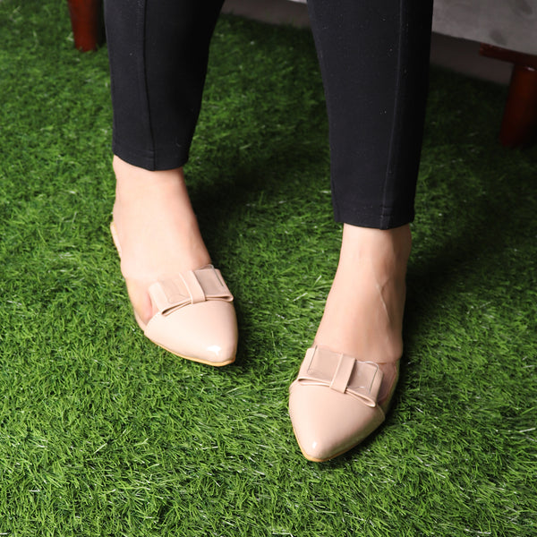 The Finska Cookie Ribbon Mules in Cream