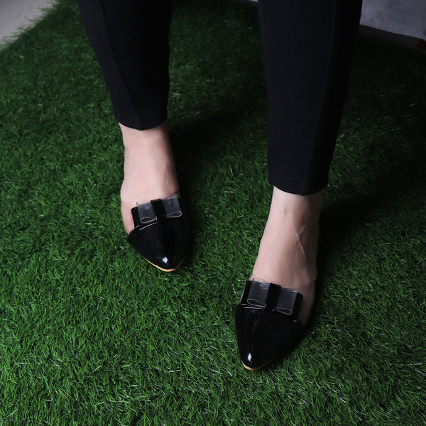 Foot Wear,The Finska Cookie Ribbon Mules in Black - Cippele Multi Store