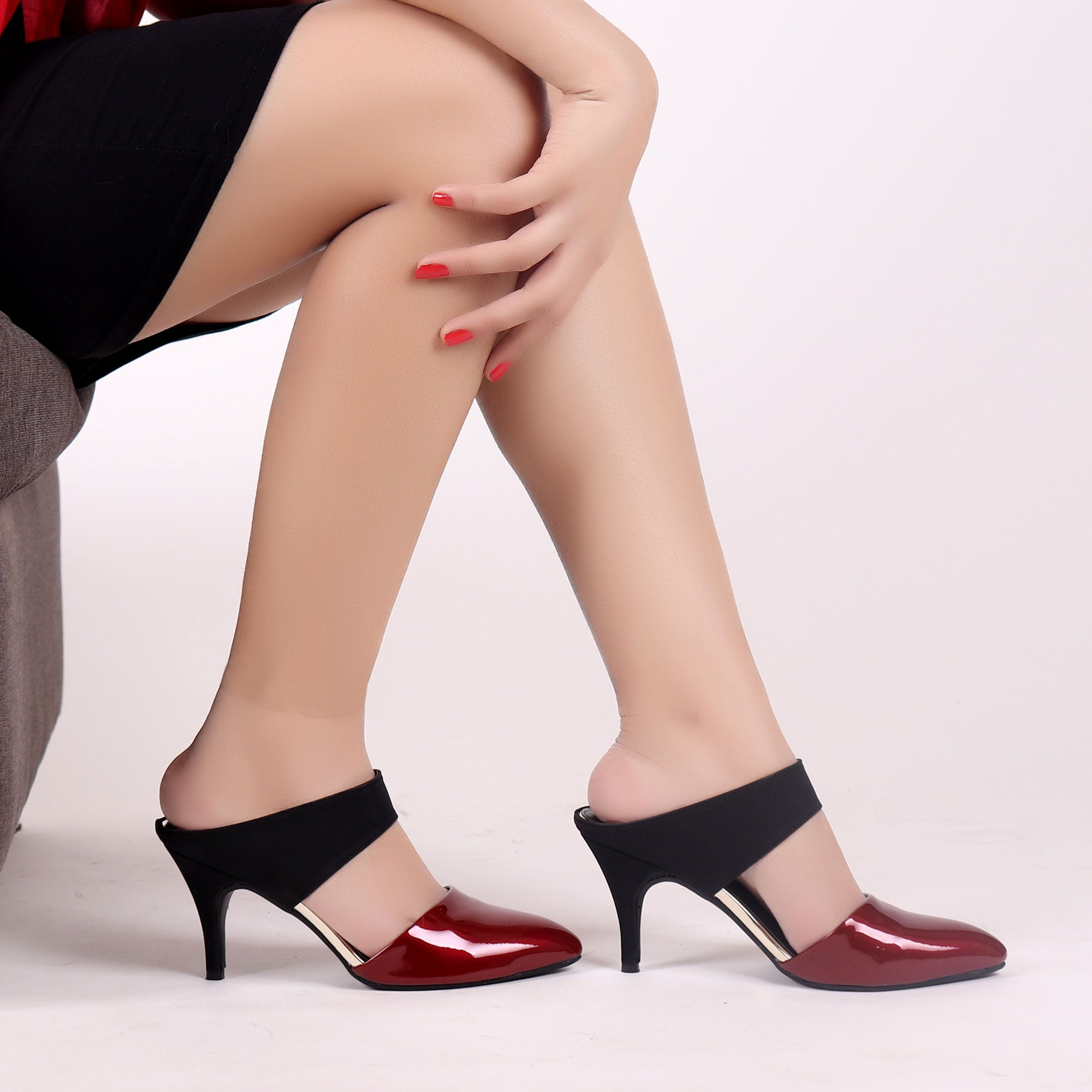 Foot Wear,Glossy Dark Appeal Fashion Heels - Cippele Multi Store