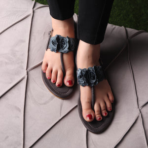 Foot Wear,The Cardinal Rose Flats in Grey - Cippele Multi Store