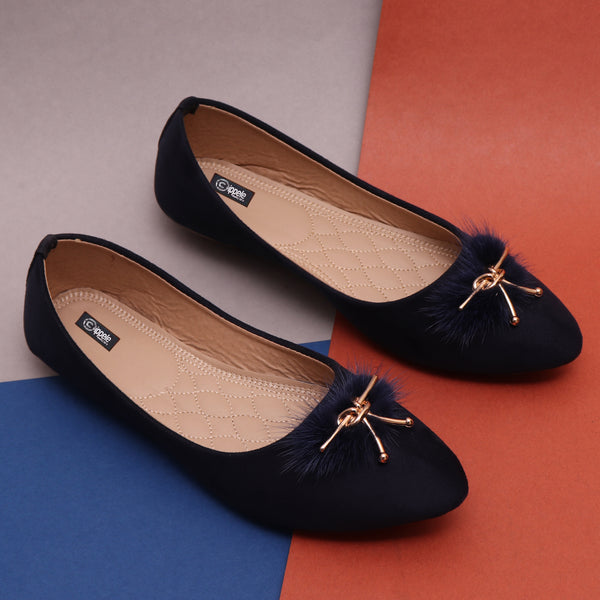 Foot Wear,Fab my Feet Navy Blue Bellies - Cippele Multi Store