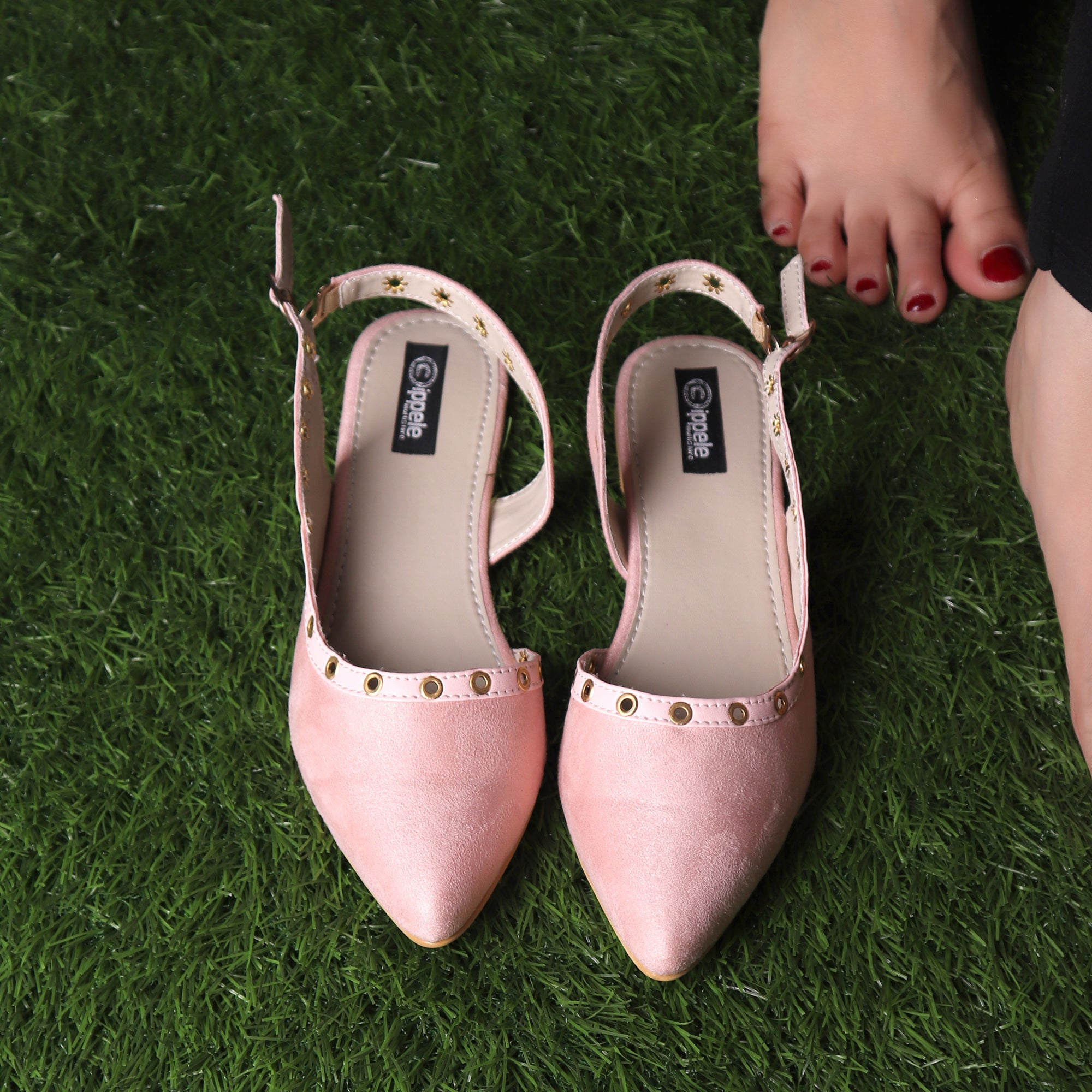 Foot Wear,The Misty Breezy Valentino In Baby Pink - Cippele Multi Store