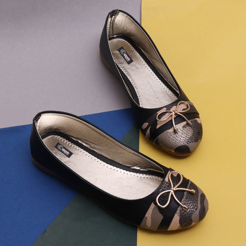 Foot Wear,Slim Bow Black Bellies - Cippele Multi Store