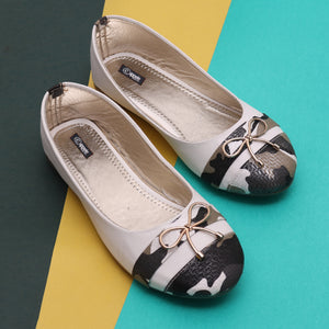 Foot Wear,Slim Bow White Bellies - Cippele Multi Store