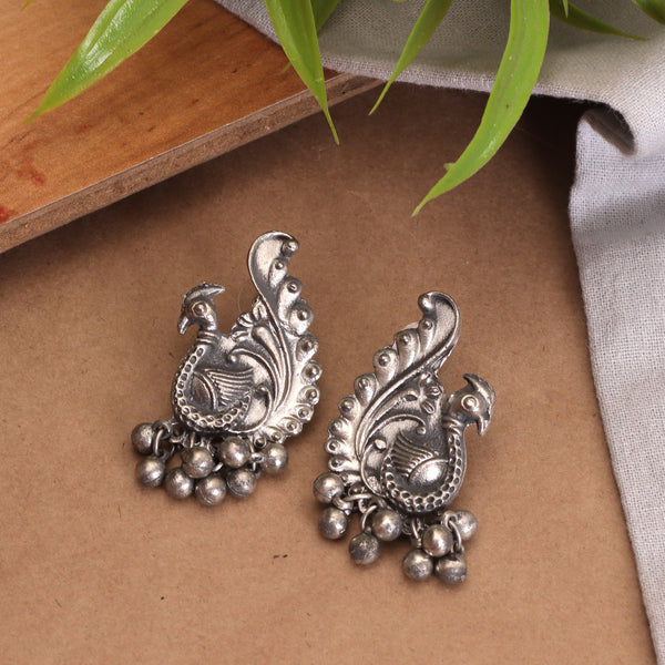 The Soothing Avian Silver Oxidized Necklace Set
