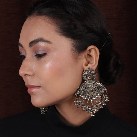 Dual Tone Ethnic Designer Earrings