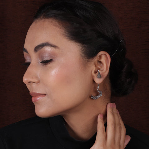Silver Look Designer Earrings
