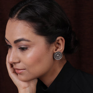 Silver Look Classic Design Earrings