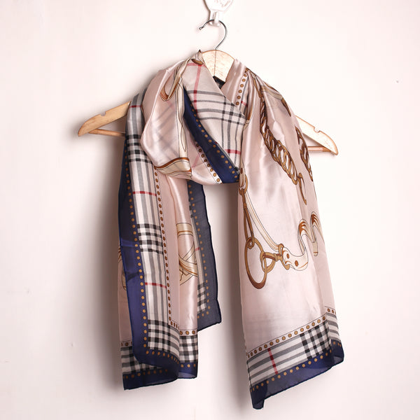 Off White Printed Designer Stole