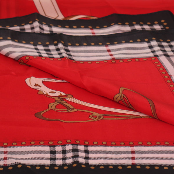 Red Printed Designer Stole