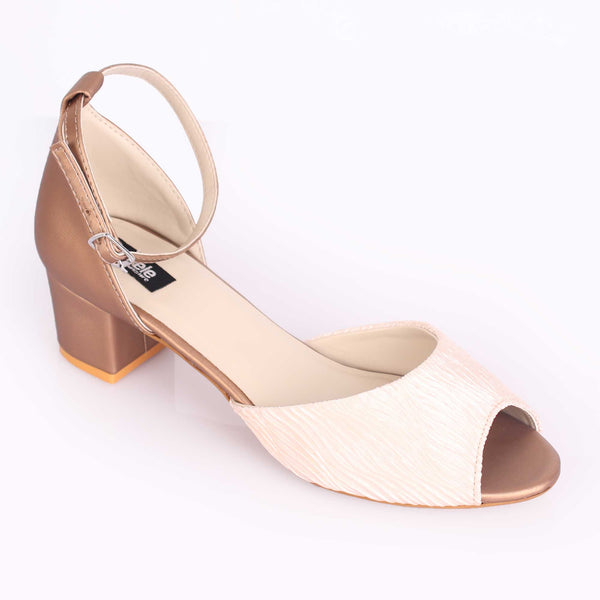 The Ripple Off White Block Heel