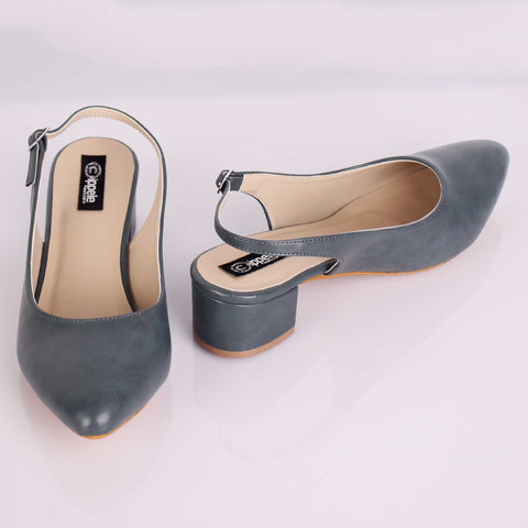 The Bluish Grey Block Heels