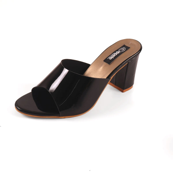 Foot Wear,The Pristine Black Block Heel - Cippele Multi Store