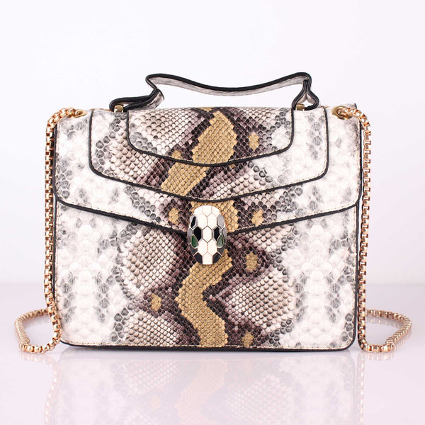 The Exotic Print Sling Bag in Shades of Yellow