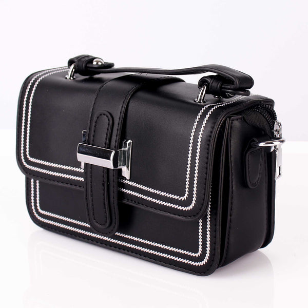 The Bold Sober Black Sling Bag