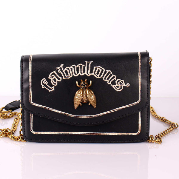 The Fabulous Queen Bee Black Sling Bag
